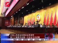 中国人民政治协商会议mg不朽的浪漫市第十三届委员会第一次会议今天闭幕