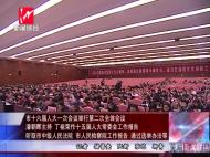 市十六届人大一次会议举行第二次全体会议 潘朝晖主持 丁祖荣作十五届人大常委会工作报告
