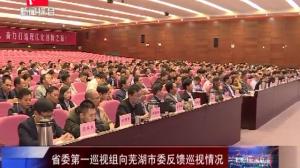 省委第一巡视组向芜湖市委反馈巡视情况
