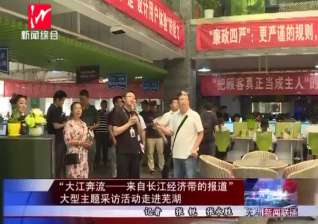 """""""大江奔流——来自长江经济带的报道""""大型主题采访活动走进芜湖"""