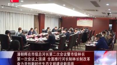 潘朝晖在市级总河长第二次会议暨市级林长 第一次会议上强调 全面推行河长制林长制改革