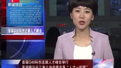 """首届G60科创走廊人才峰会举行 芜湖将与长三角八地共建共享""""人才一张网"""""""