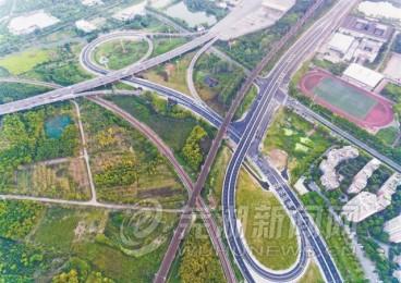 全市最大单孔跨径桥米市口立交下月完工