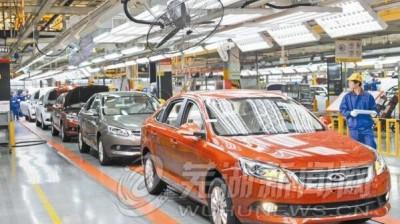 奇瑞5月份出口同比增长56.7%