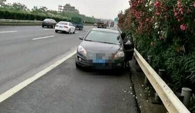 女司机一脚刹车掉头停高速上:只想静静看别人开车