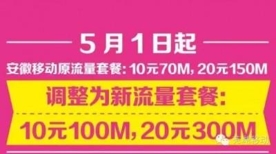 流量加量不加价:10元100M,20元300M