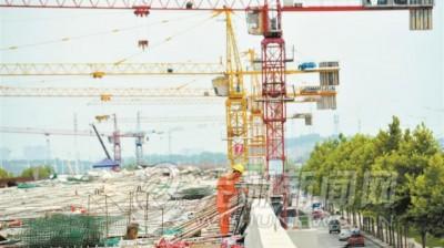 马塘立交主线高架桥梁现雏形 明年3月竣工