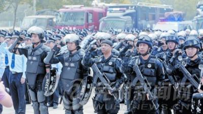 我市公安局举行党的十九大安保攻坚誓师大会