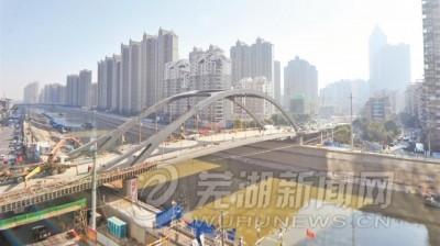 新中山桥建设接近尾声