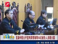 芜湖中院公开审判周帮海等56名被告人涉黑大案