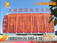 """大地蔬菜批发市场今日开业 芜湖再添一个""""菜篮子"""""""