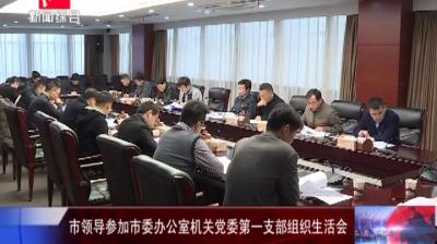市领导参加市委办公室机关党委第一支部组织生活会