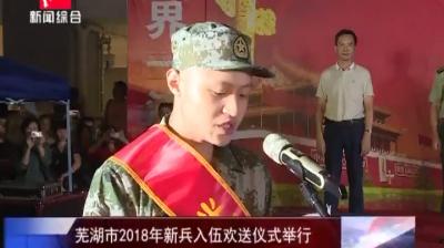 芜湖市2018年新兵入伍欢送仪式举行