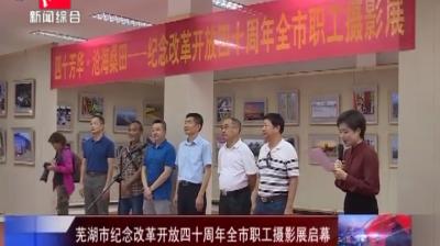 芜湖市纪念改革开放四十周年全市职工摄影展启幕