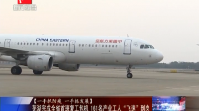 """芜湖完成全省首班复工包机161名产业工人""""飞速""""到岗"""